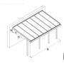 Breite: 5,00 m | ALU Terrassenüberdachung mit Überstand Stegplatten (Tiefe wählbar)