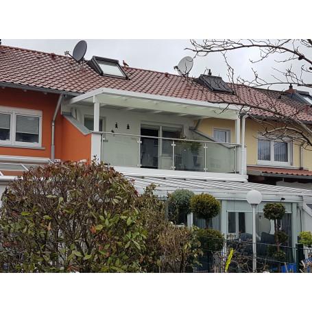 Breite: 6,00 m | ALU Terrassenüberdachung mit Überstand Stegplatten (Tiefe wählbar)